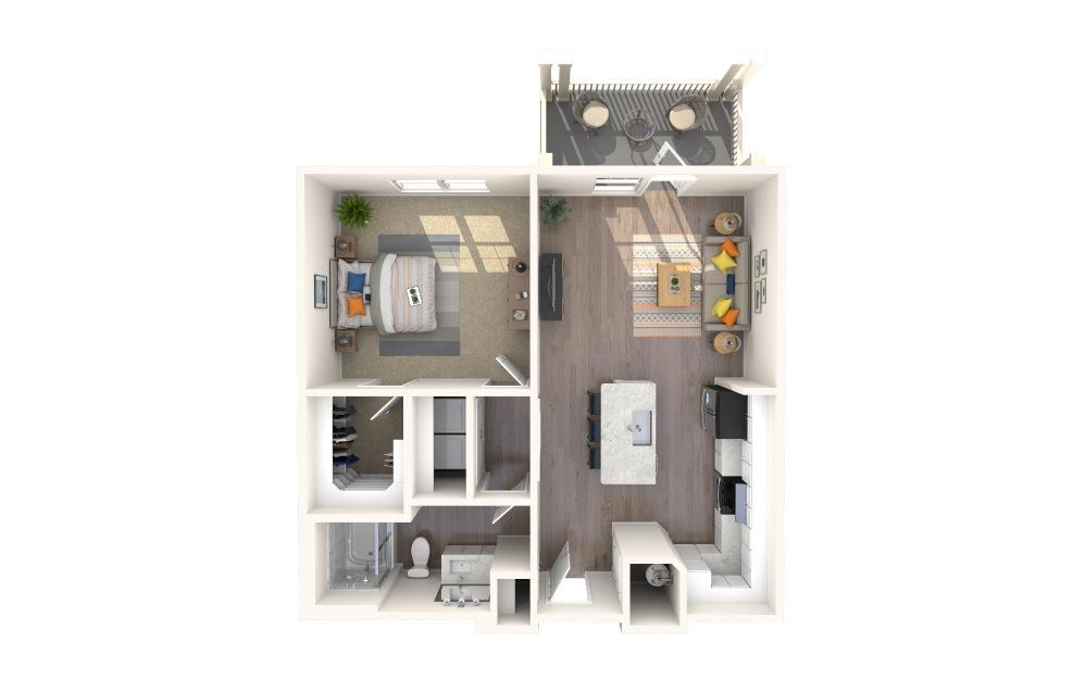 A1-Alt 4 Bed 1 Bath Floorplan
