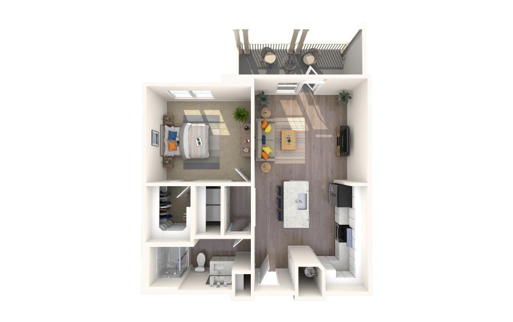 A1-Alt  5 1 Bed 1 Bath Floorplan