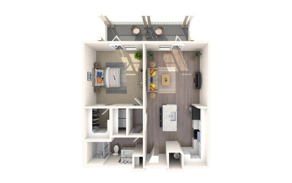 A1 Alt 9 1 Bed 1 Bath Floorplan